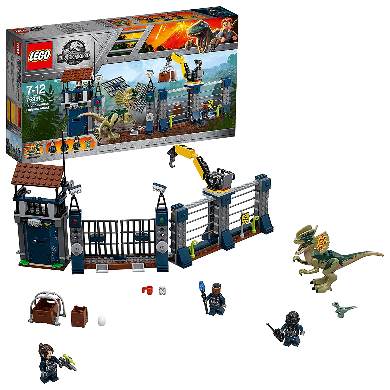 LEGO Jurassic World - Ataque del Dilofosaurio al puesto de vigilancia (75931): Amazon.es: Juguetes y juegos