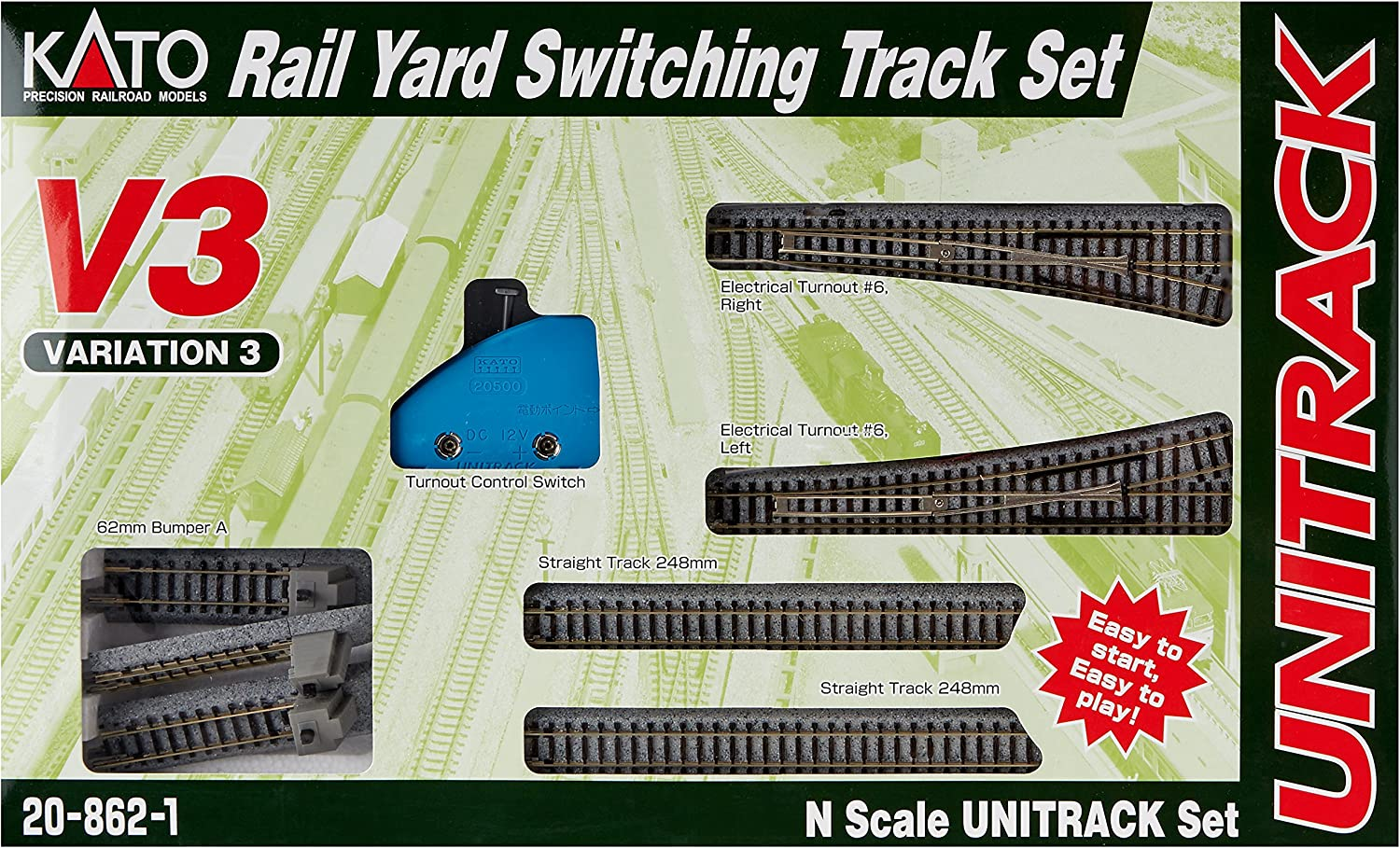 B000MQORQK Kato USA Model Train Products V3 UNITRACK Rail Yard Switching Set 91U7NOtjxmL.SL1500_