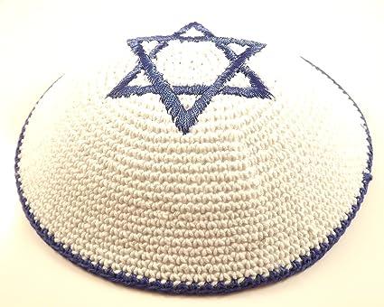 Amazon High Quality Knitted Star Of David Yarmulke Kippah 16