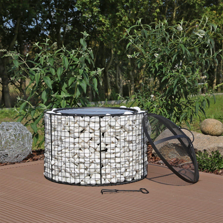 CLGarden GFS2 Brasero de jardín con grill, de acero inoxidable: Amazon.es: Jardín