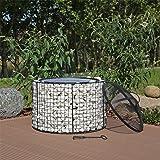 CLGarden GFS2 Brasero avec coque barbecue, brasero de jardin en acier inoxydable