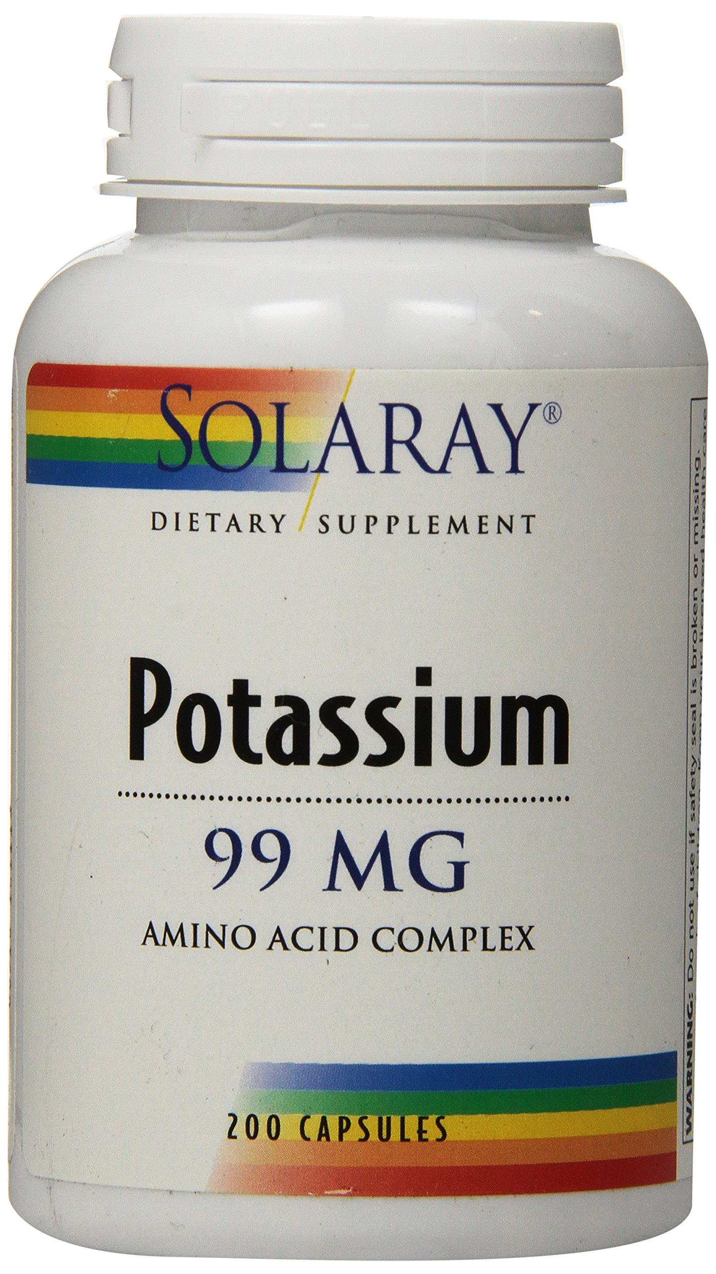 Solaray Potassium Supplement, 99 mg, 200 Count