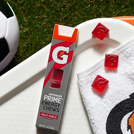 Amazon Gatorade Prime Energy Chews Fruit Punch Pack Of 16
