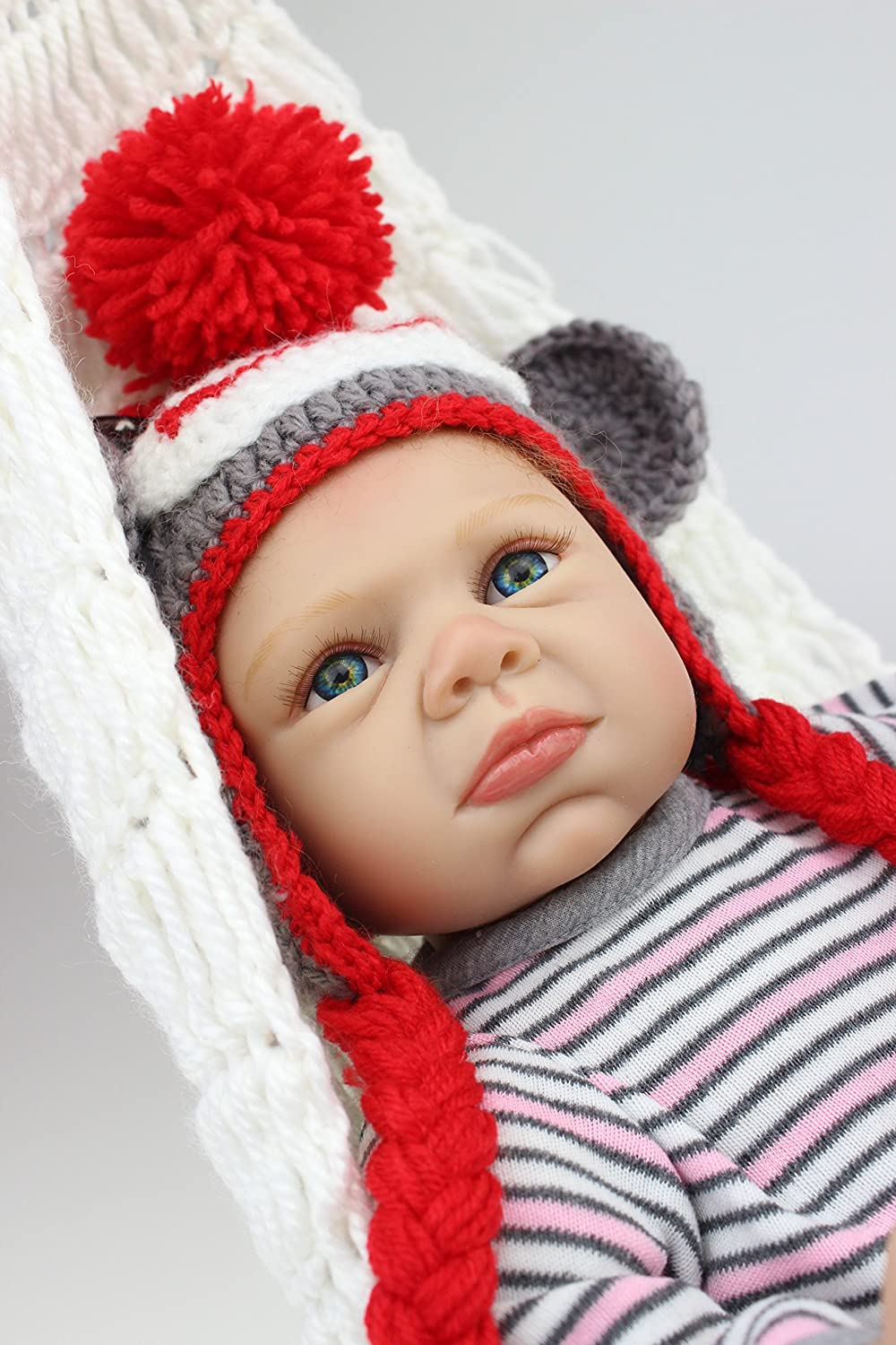 Lilith Rebornベビー人形22インチ55 cm Lovely Real Gentle Touch Lifelike Newborn Doll Girl Toddler Bed Time Toyギフト   B07DFJ8VDH