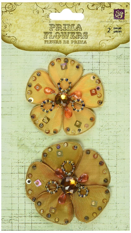 Prima 538224 Caravanシアー生地花装飾、Magiゴールド B003A7IWIM
