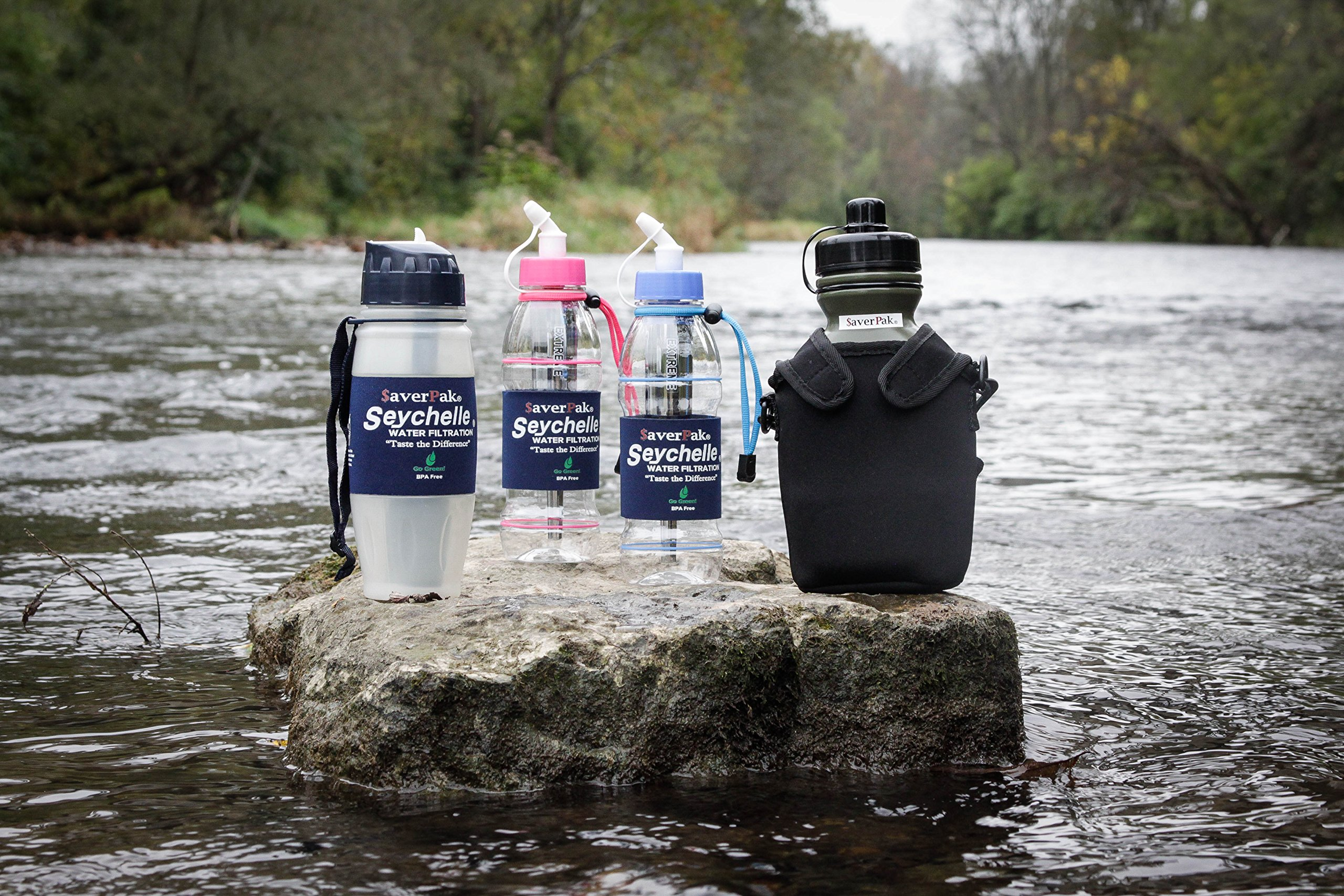 $averPak 2 Pack - Includes 2 Seychelle 28oz Flip Top Water Filtration Bottles with the Seychell EXTREME RAD/ADV Filters and 2 Additional Spare EXTREME RAD/ADV Filters by $averPak (Image #4)