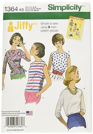 Simplicity 1364 Größe K5 Misses \'Vintage Jiffy Blusen und ...