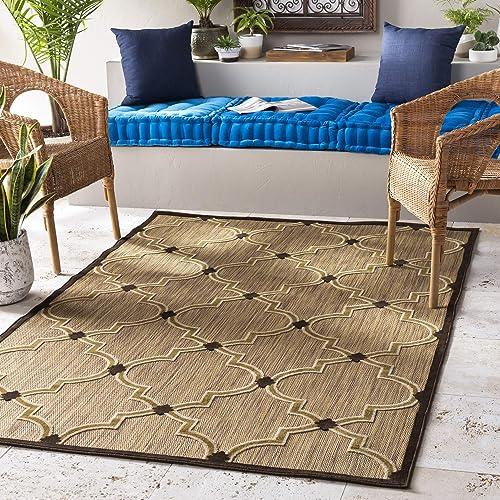 Serrano Brown and Beige Indoor / Outdoor Area Rug 7'10″ x 10'8