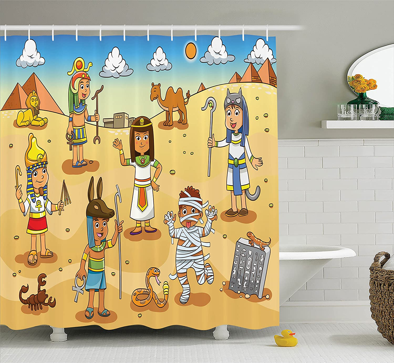 Amazon Ambesonne Cartoon Decor Shower Curtain Set Illustration