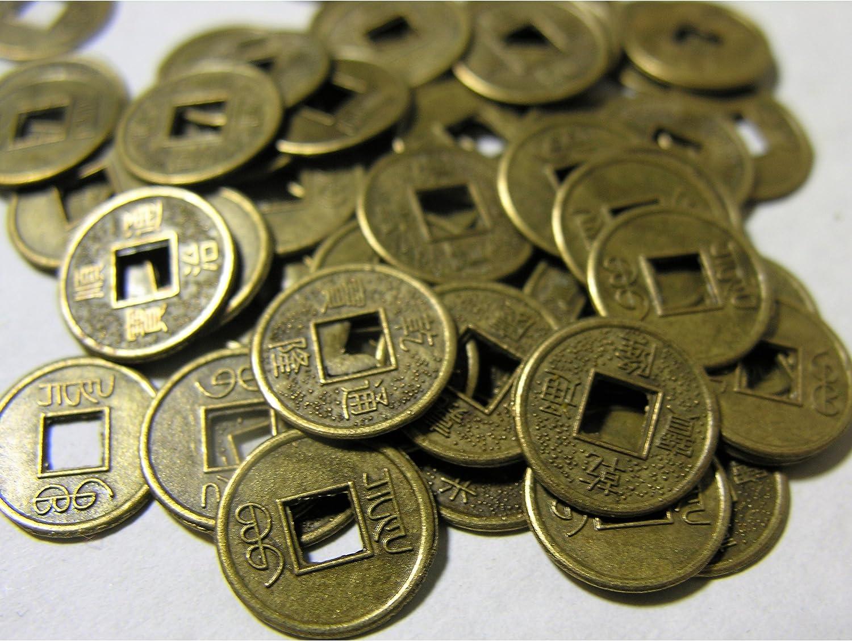 Münzen Glücksbringer; Feng Shu 15 x chinesische Glücks
