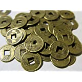 50x chinesische Glücksmünzen Feng Shui Talisman Glücksbringer Käsch