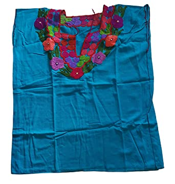 Ambar Chanty Bejewelded Mexican Embroidered Blouse Authentic