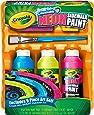 Crayola; Washable Neon Sidewalk Paint; Outdoor Art Tools; 3 Neon Paint Colors, Paint Brush, Roller and 3 Sidewalk Chalk Sticks