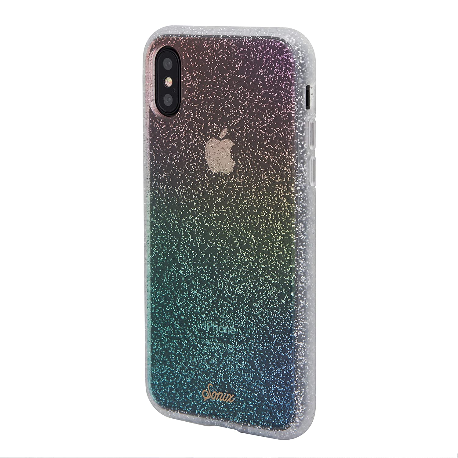 reputable site 8cad2 ebc9a iPhone Xs, iPhone X, Sonix Rainbow Glitter Cell Phone Case [Military Drop  Test Certified] Sonix Clear Coat Series for Apple (5.8