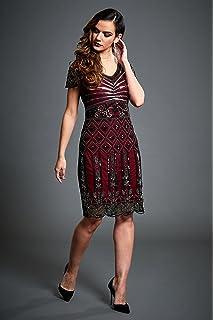 Sandra – Vine RED Embellished 20S Gatsby Short Flapper Dress