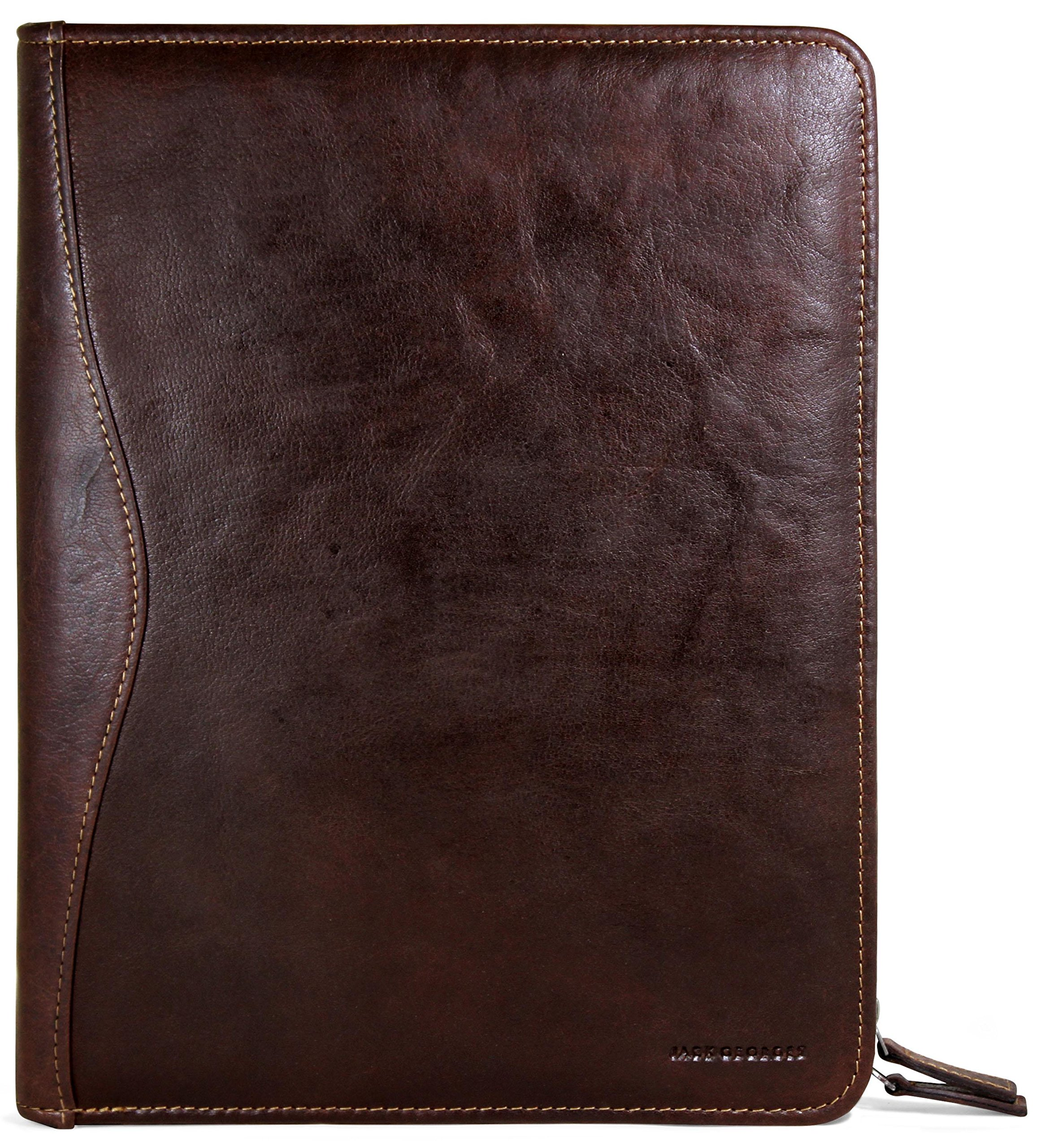 Jack Georges Voyager Zip-Around Letter Size Writing Pad (Brown) by Jack Georges (Image #1)