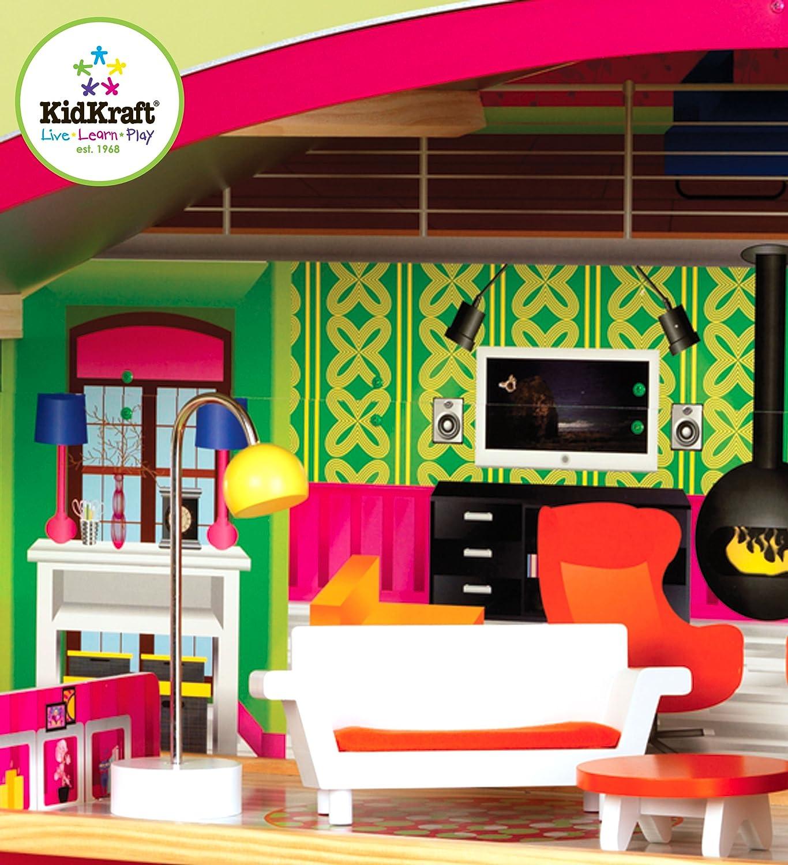 Amazoncom KidKraftDesigner Dollhouse with Furniture Toys Games