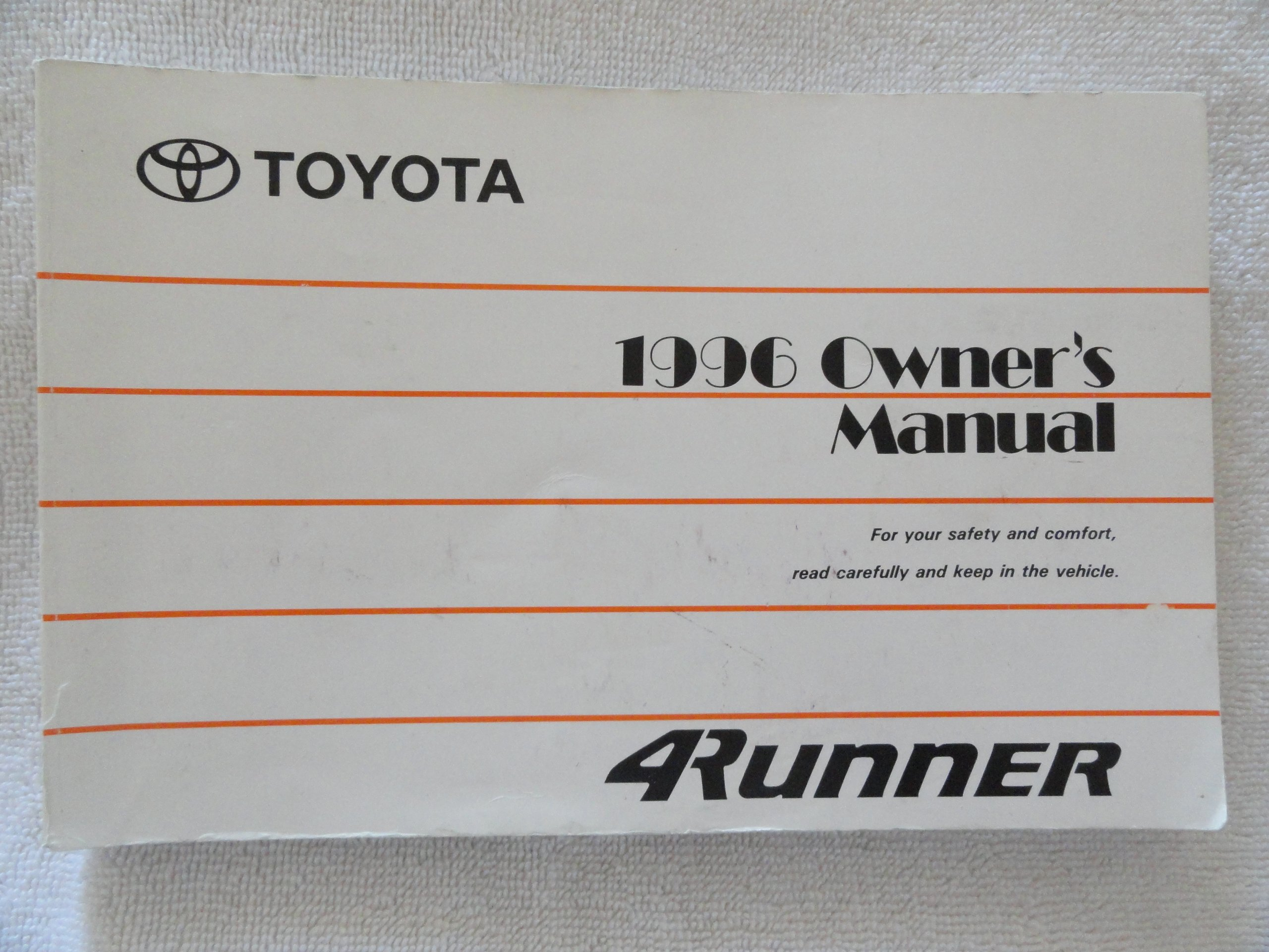 1996 toyota 4runner 4 runner owners manual toyota amazon com books rh amazon com 1995 4Runner 2010 4Runner