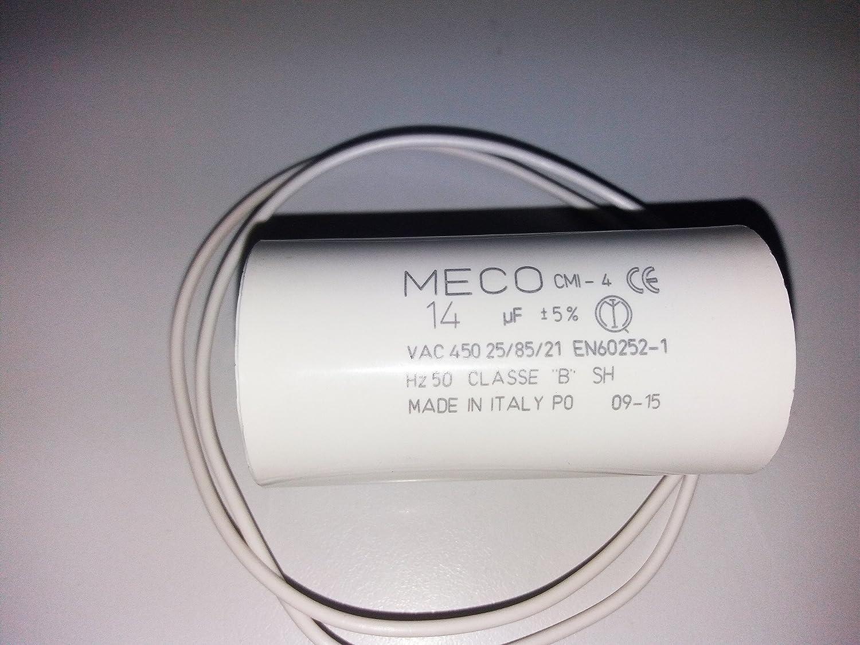 Kit reparación piscinas; Condensador eléctrico de interior arranque motor bomba monofásica 14 Microfaradios Ymbersa Náyade S.L.