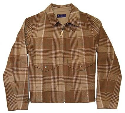 Polo Ralph Lauren Purple Label Mens Jacket Coat Cashmere Plaid Italy Large