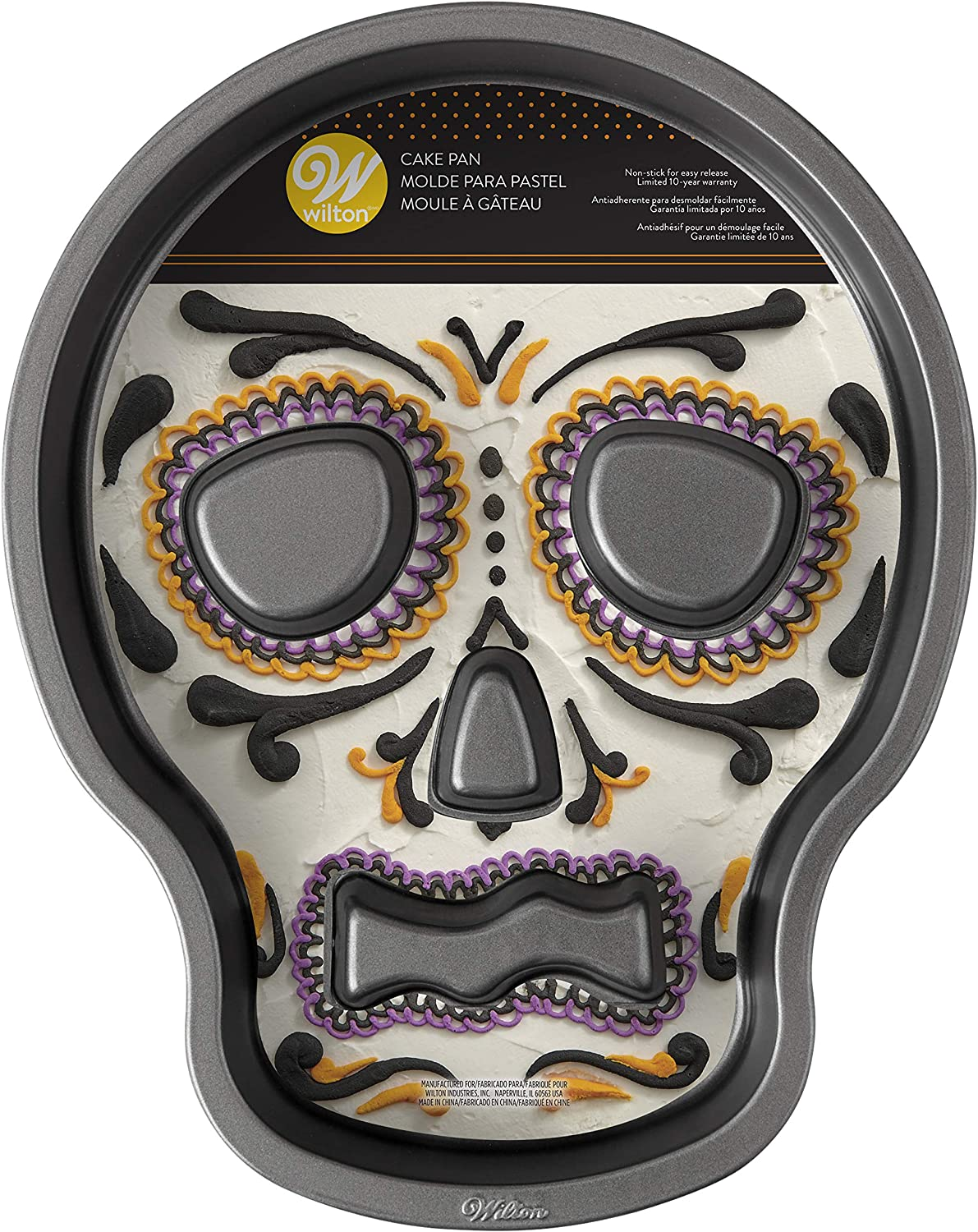 Wilton 2105-7792 Skull Cake Pan with Flutes