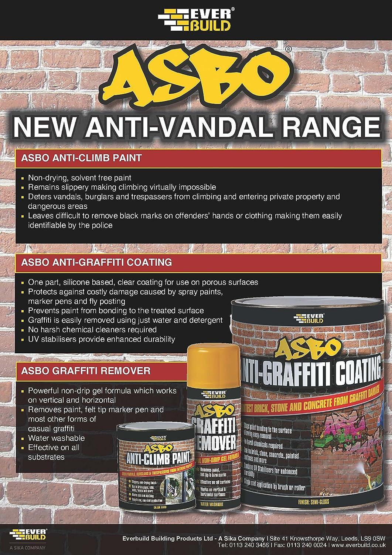 Everbuild ANTIGRAFFCT5 Asbo Anti-Graffiti Coating, Clear, 5 Litre