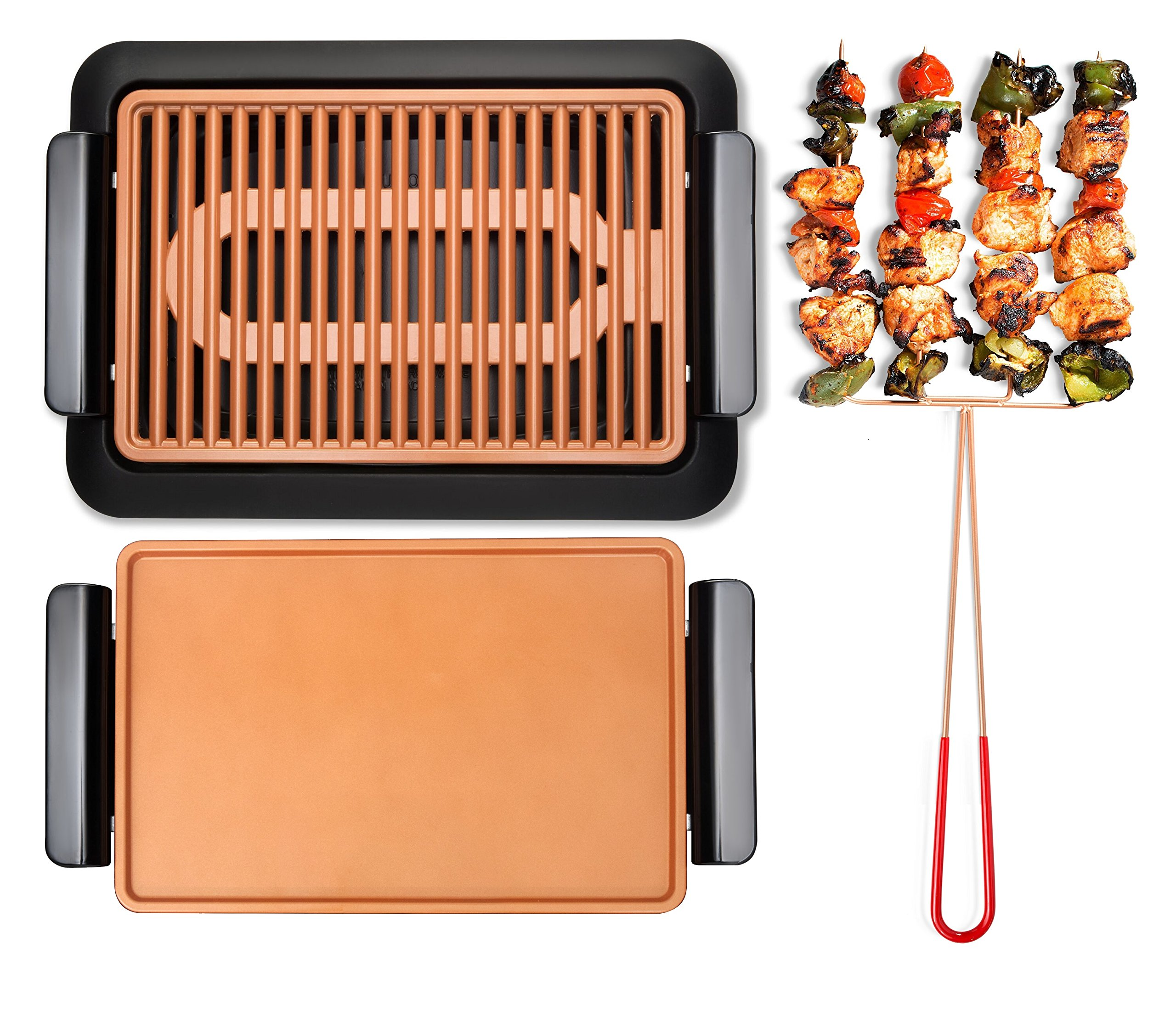 GOTHAM STEEL Smokeless Electric Grill, Griddle, and Pitchfork, Indoor BBQ and Nonstick As Seen On TV (Large) by GOTHAM STEEL