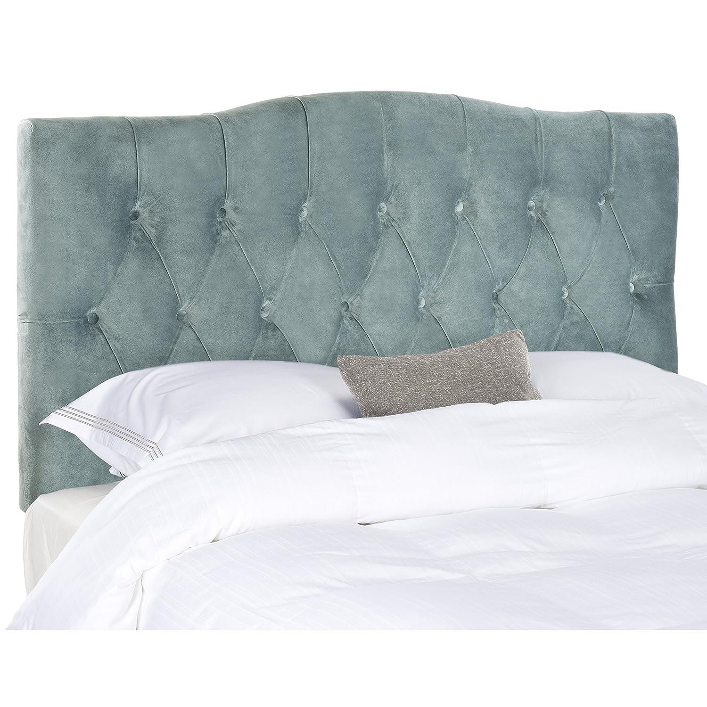 Amazon.com: Safavieh Axel Taupe Linen Upholstered Tufted Headboard ...