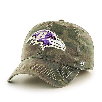299ac189454f25 '47 Brand NFL Baltimore Ravens Harlan Franchise Fitted Hat, Medium,  Sandalwood