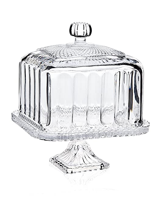 Godinger Belmont Small Square Domed Cake Stand