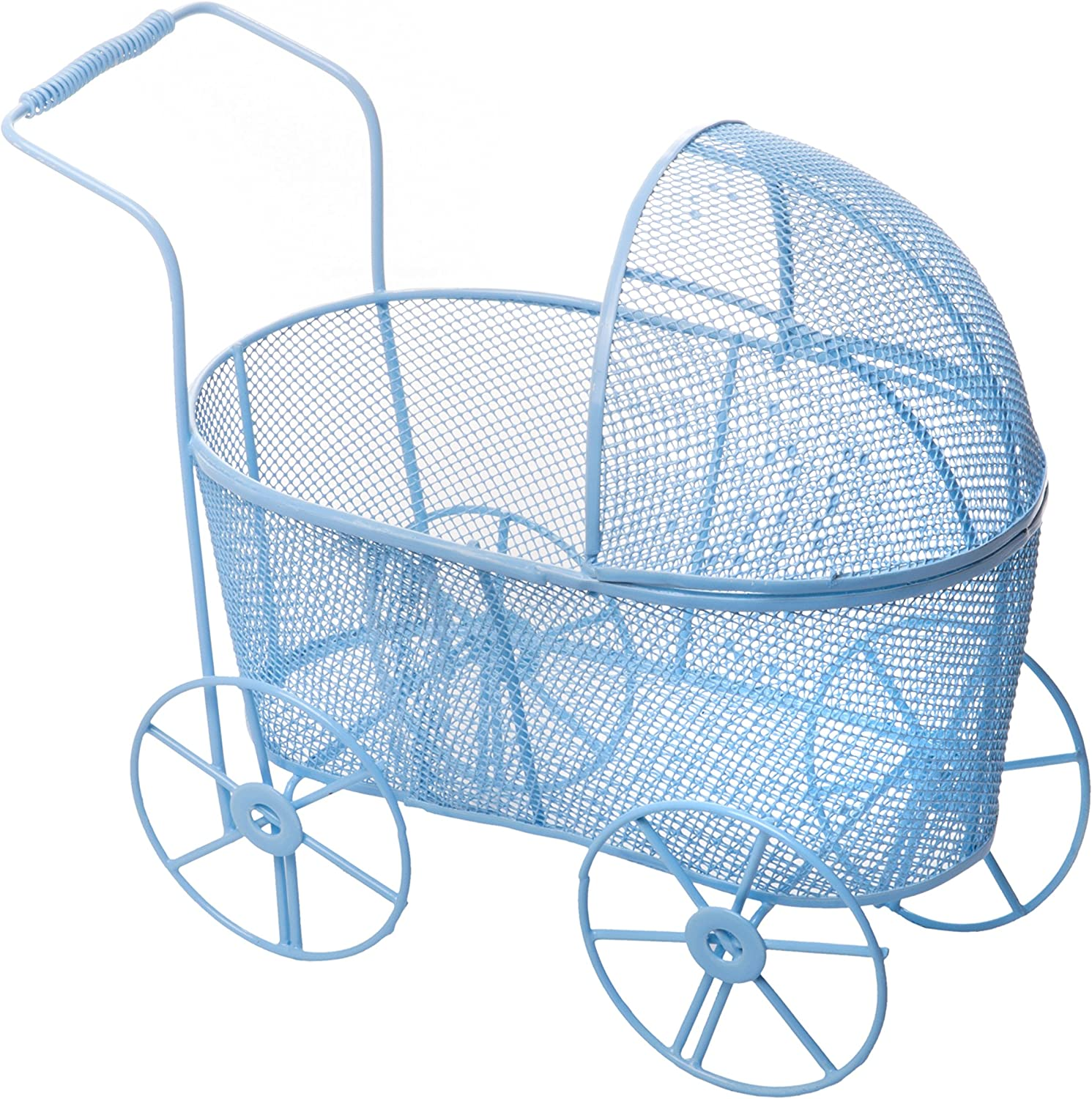 Baby Shower Carriage Wicker Table Centerpiece Favors Gifts Decorations Blue