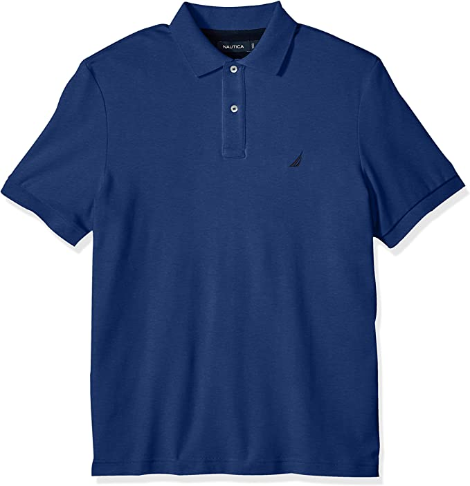 Nautica Hombre - Manga Corta Camisa Polo - Azul - X-Large: Amazon ...