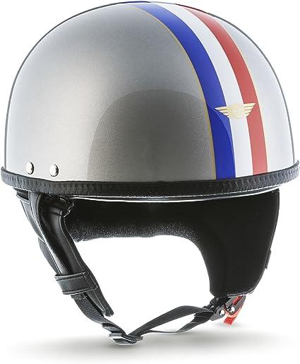 Moto Helmets D22 France Titan Brain Cap Halbschale Jet Helm Motorrad Helm Bobber Fiberglas Schnellverschluss Slimshell Tasche Xxl 63 64cm Auto