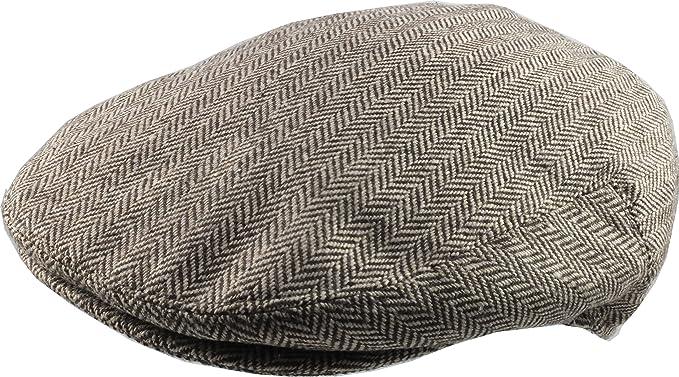 Men s Traditional Herringbone Flat Cap - Retro 30 s Style  Amazon.co ... 2124ded2baa