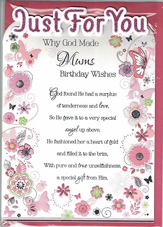 Madre Tarjeta de cumpleaños~Por qué dios fabricado~Modern ...