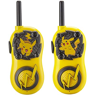 Pokemon Pikachu FRS Walkie Talkies for Kids Long Range Static Free Kid Friendly Easy to Use 2 Way Walkie Talkies: Toys & Games