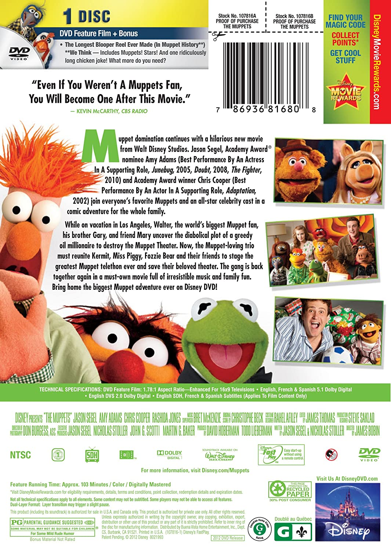 Amazon.com: The Muppets: Amy Adams, Jason Segel, James Bobin: Movies ...