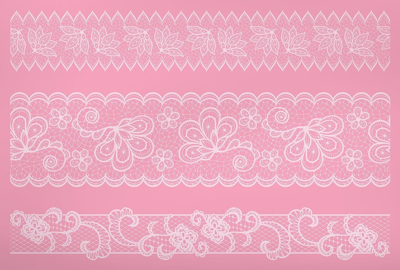 Kitchen Craft Sweetly Does It Mustermatte zum Verzieren von Torten, 40 x 27 cm, aus Silikon, Motiv Spitzenbordüre, Pink SDILACEMAT14