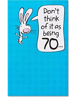 American Greetings Funny 70th Birthday Card With Pop Up