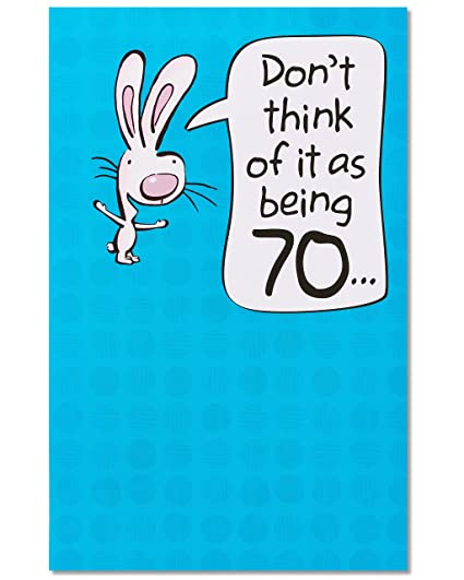Amazon American Greetings Funny 70th Birthday Card With Pop Up