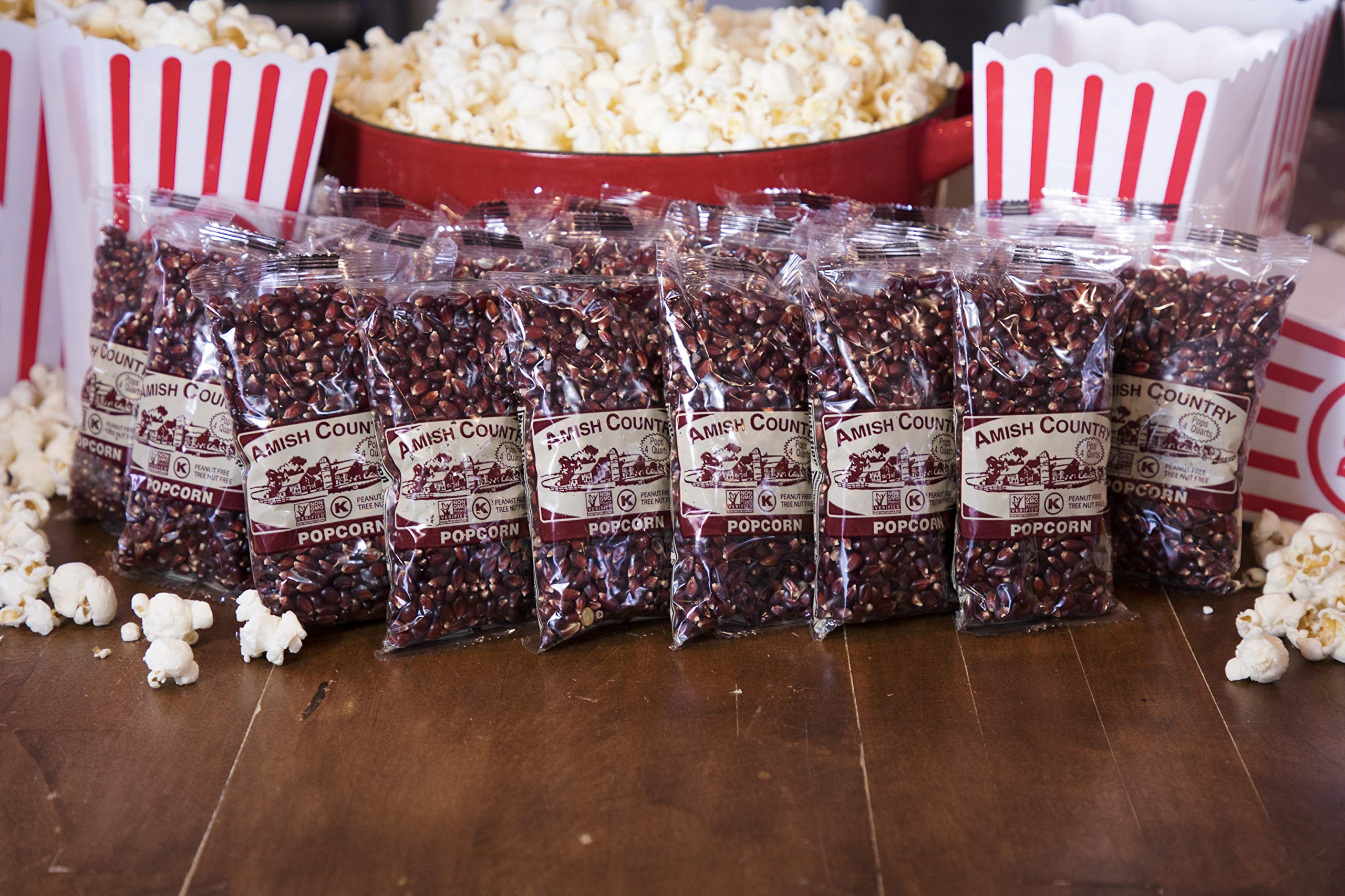 Amish Country Popcorn - Red Popcorn (4 Ounce - 24 Pack) - Old Fashioned, Non GMO, and Gluten Free - with Recipe Guide by Amish Country Popcorn (Image #3)