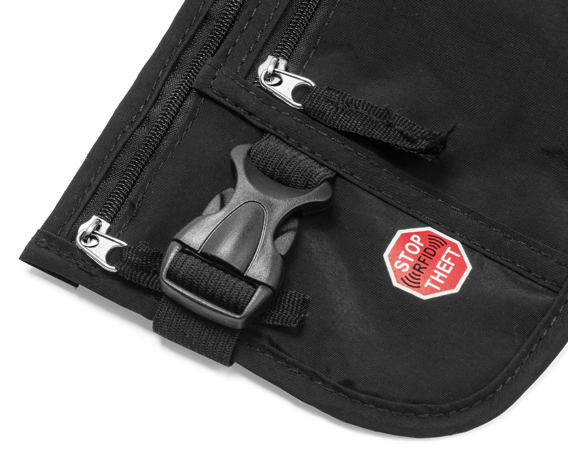 RFID Blocking Money Belt for Travel by MyTravelBFF, Keep Your Passport Hidden! by MyTravelBFF (Image #4)