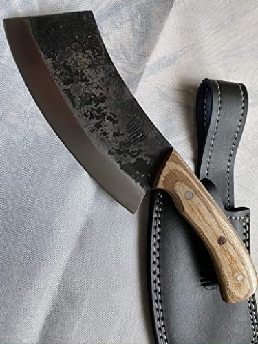 Hobby Hut HH-328 Custom Handmade 10 inches 1095 Carbon Steel Hunting Knife with Sheath, Fixed Blade Knife, Pakka Wood Handle Designed for Hunting Camping and Survival