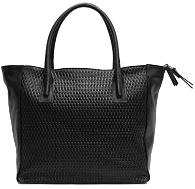 58920862e7c7 Floto Women s Firenze Shoulder Tote Bag in Stamped Woven Leather ...