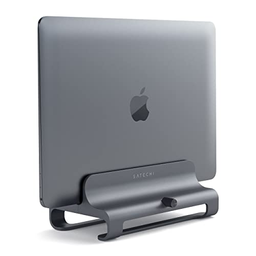 Satechi Universal Vertical Aluminum Laptop Stand for MacBook, MacBook Pro, Dell XPS, Lenovo Yoga, Asus Zenbook, Samsung Notebook and more (Space Gray)