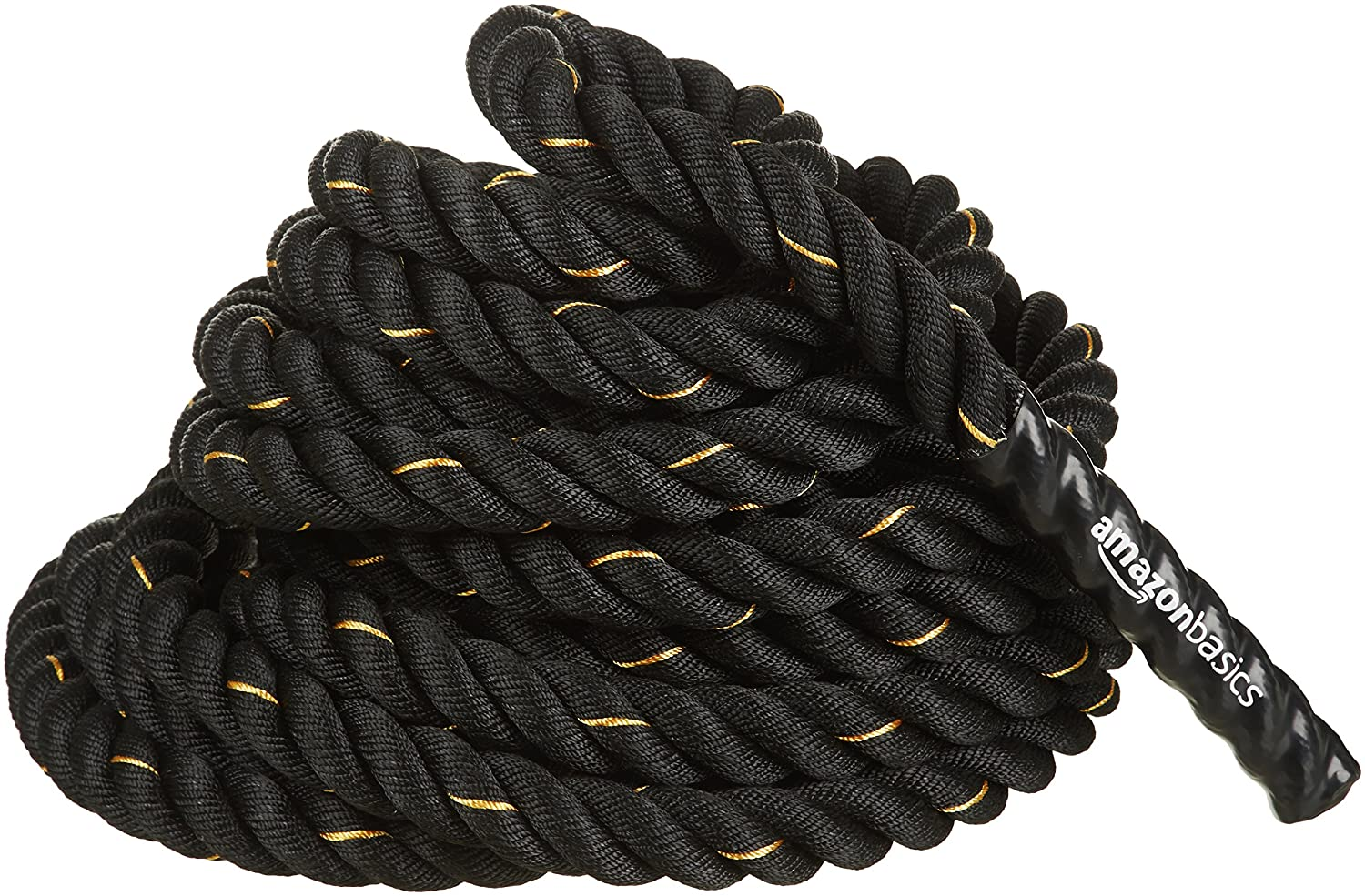 AmazonBasics Battle Exercise Training Rope, 1.5/2in Diameter, 30/40/50ft Length