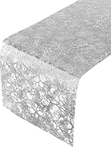 "BRANCHES DESIGN TABLE RUNNERS | Runner Table Cloth for Upscale Wedding and Dining | Table Decoration | 12"" X 108"" 