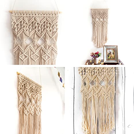 225 & Macrame Wall Hanging Woven Large Tapestry - Handmade Bohemian Home Decor - Boho Chic Apartment Studio or Dorm Decorative Interior Wall Art - Office ...