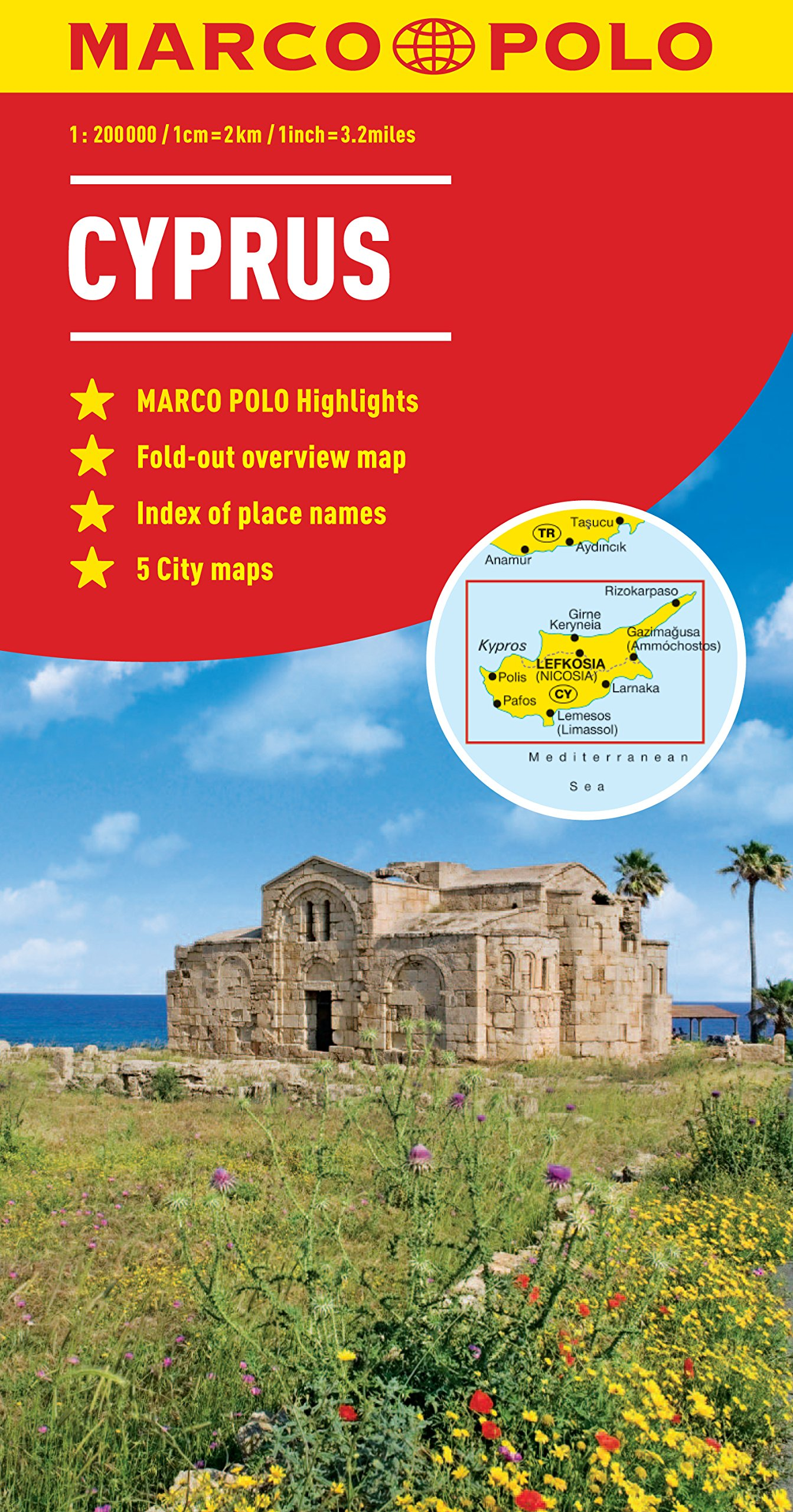 Cyprus Marco Polo Map (Marco Polo Maps): Amazon.co.uk: Marco Polo ...