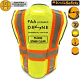 KwikSafety PILOT | Drone Safety Vest | Class 2 ANSI Compliant FAA Licensed | 360° High Visibility Reflective UAG Work Wear | Hi Vis Certified Commercial Pilot Men & Women Regular to Oversized | XL